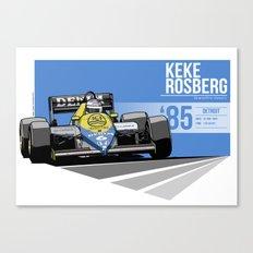 Keke Rosberg - 1985 Detroit Canvas Print