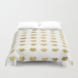 Kiss Collection – Gold Ink Duvet Cover