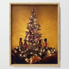 Olde Time Yule Tree Serving Tray