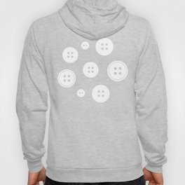 Black and White Buttons Pattern Hoody