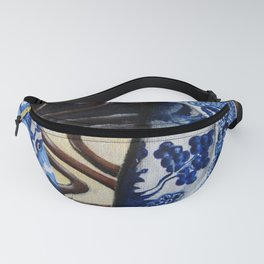 Brownie Cheesecake on Blue Willow Plate Fanny Pack
