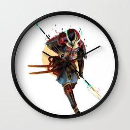 Samurai Moon Wall Clock
