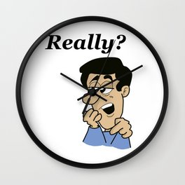 Man Really Wall Clock