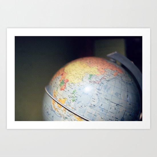 Vintage Globe Art Print