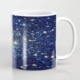 galaxY Stars : Midnight Blue & Gold Coffee Mug