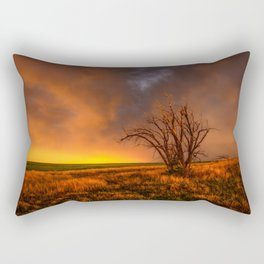 Fascinations - Warm Light and Rumbles of Thunder in Oklahoma Rectangular Pillow