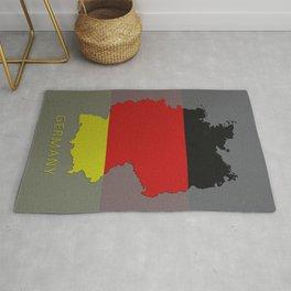 Germany, Outline, Map Rug