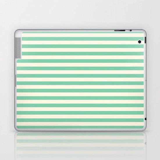 Mint Green Stripes  Laptop & iPad Skin