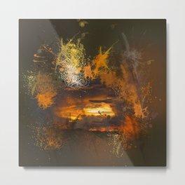 Exploding vibrant sunset Metal Print
