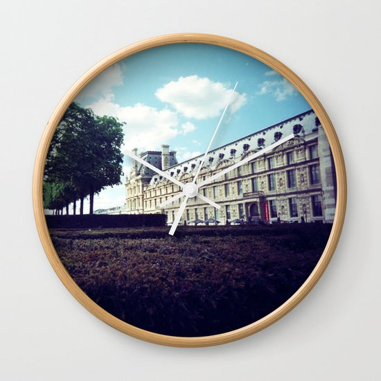 Louvre Gardens I Wall Clock