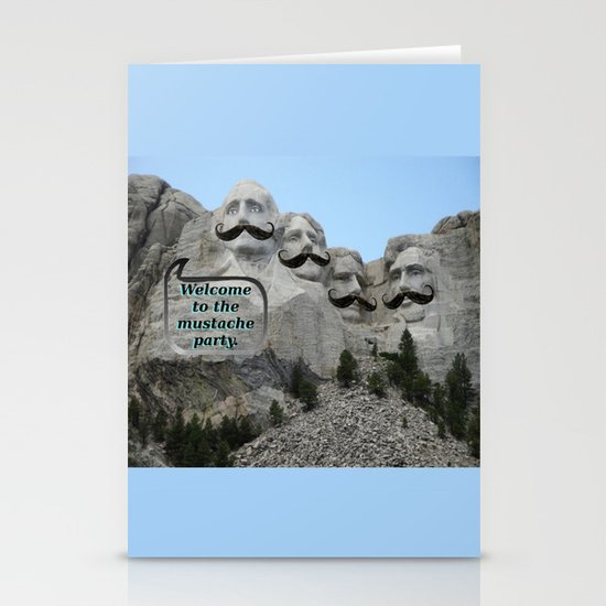 Mount Mustache Stationery Cards