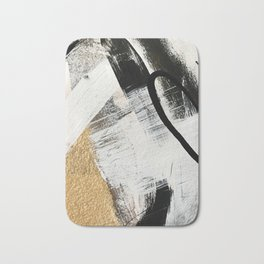 Armor [9]: a minimal abstract piece in black white and gold by Alyssa Hamilton Art Badematte