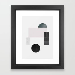 Black ball Framed Art Print