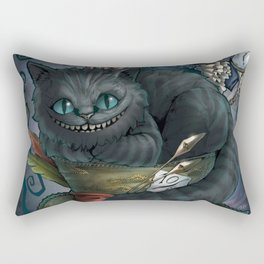 The Cheshire Cat and his friends Rectangular Pillow