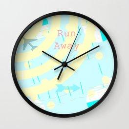Run away Wall Clock