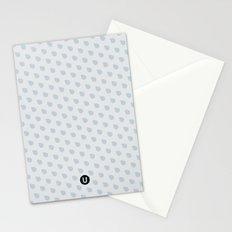 U13: grey droplet Stationery Cards