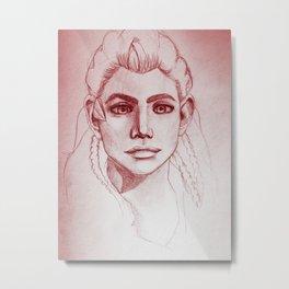 Aloy Red Metal Print