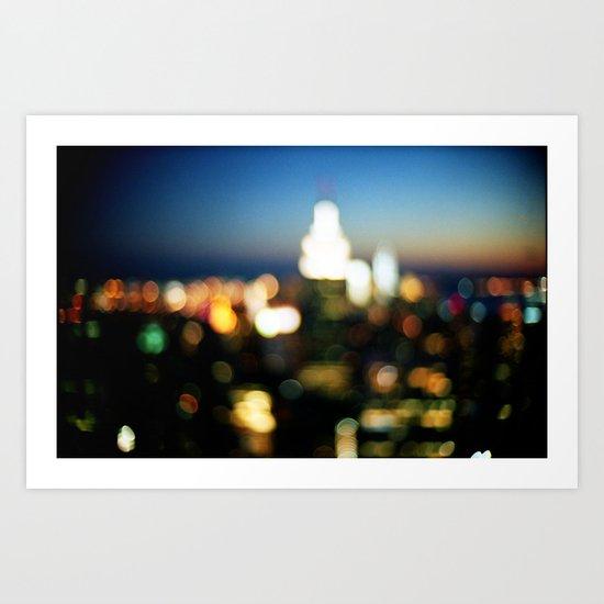 New York Lights Art Print