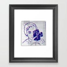 3D Camera Framed Art Print