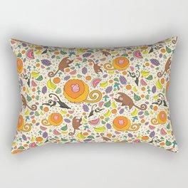 Cute Jungle and Monkeys Rectangular Pillow
