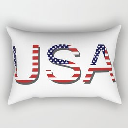 word United States of America Rectangular Pillow