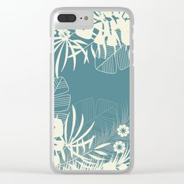 Tropical pattern 047 Clear iPhone Case