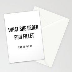 Fish fillet Stationery Cards