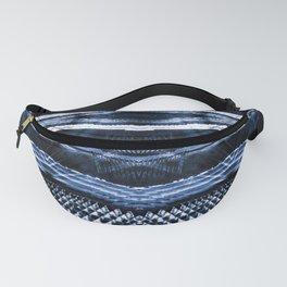 Dark blue indigo ethnic striped shibori Fanny Pack