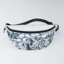 Blue Baby Cats Fanny Pack