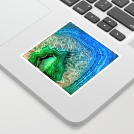 Turquoise Green Agate Mineral Gemstone Sticker
