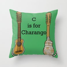 C is for Charango Throw Pillow