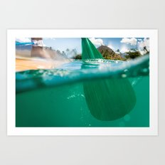 Stand Up Paddling Art Print