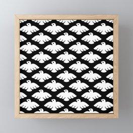 Flying Dove Pattern 2 Framed Mini Art Print