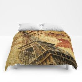 Paris vintage poster. Comforters