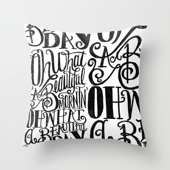 ....Oh what a beautiful day Throw Pillow