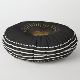 Modern decorative Black and White Mandala Floor Pillow