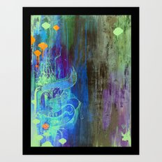 Enchanted Bunny Beats The Burst Art Print
