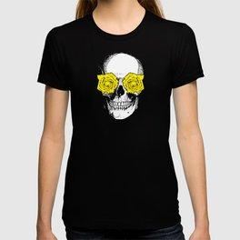 Skull and Roses | Grey and Yellow T-shirt