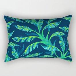 Paradise Leaves - Green Rectangular Pillow