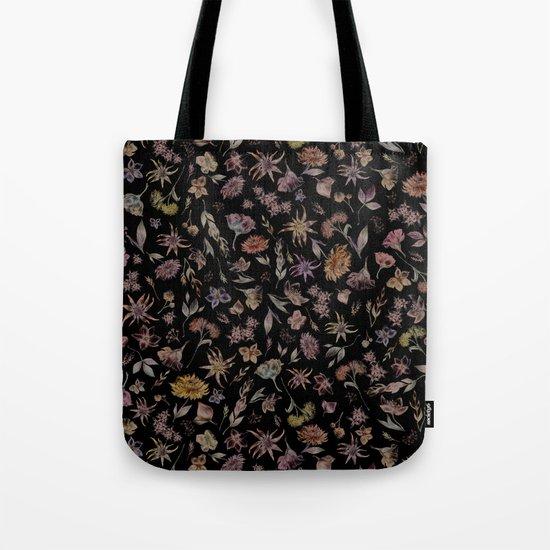 Botanical Study- Dark Colorway Tote Bag