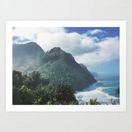 Na Pali Coast Kauai Hawaii Art Print