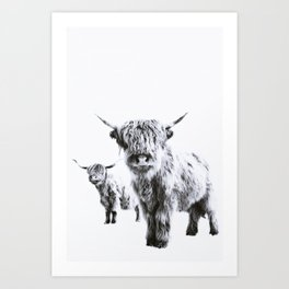 HIGHLAND COW - LULU & SARA Art Print