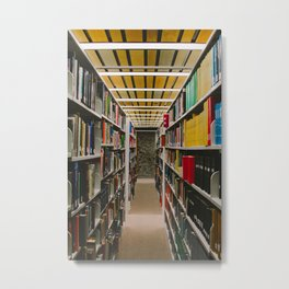 Library Books Metal Print