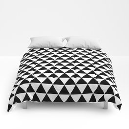 Black Triangle Pattern Comforters