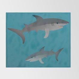 Sharks Throw Blanket