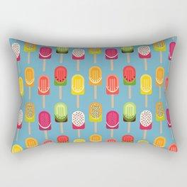 Fruit popsicles - blue version Rectangular Pillow