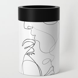 Lovers - Minimal Line Drawing Art Print 2 Can Cooler