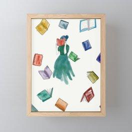 Bookworm Framed Mini Art Print