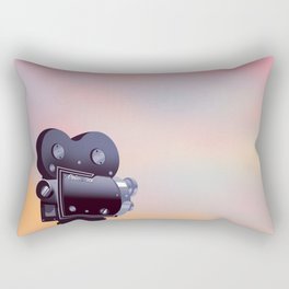 Vintage Movie camera sunset Rectangular Pillow