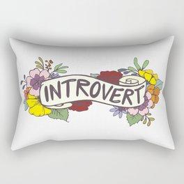 Floral Introvert Banner Rectangular Pillow